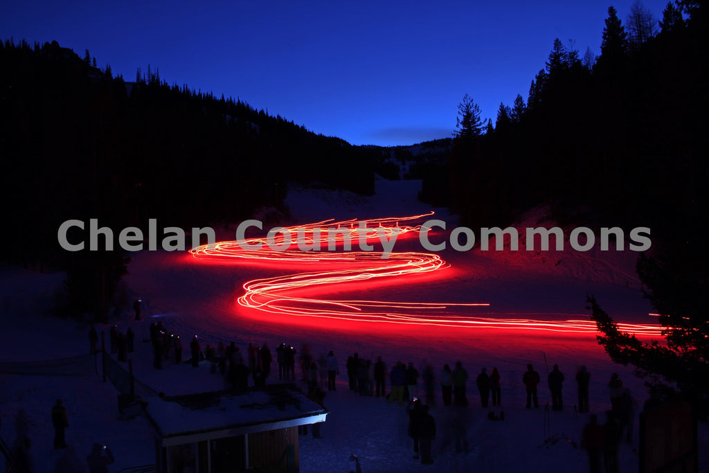 Torchlight Parade @ Mission Ridge , JPG Image Download - Jared Eygabroad, Chelan County Commons
