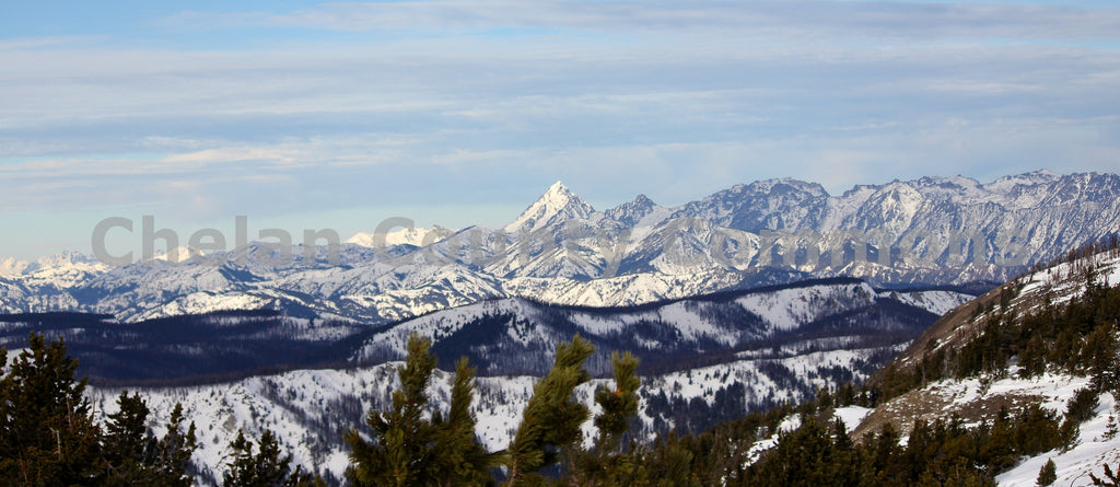 Mount Stuart in Snow , JPG Image Download - Jared Eygabroad, Chelan County Commons