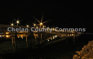 Lake Pier at Night , JPG Image Download - Jared Eygabroad, Chelan County Commons
