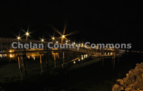 Lake Pier at Night