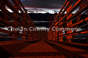 Red Pier at Dusk , JPG Image Download - Jared Eygabroad, Chelan County Commons