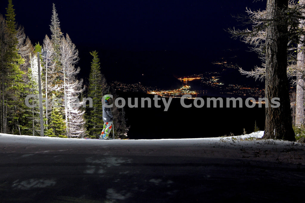 Night Skiing Mission Ridge , JPG Image Download - Jared Eygabroad, Chelan County Commons