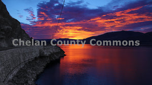 Purple & Orange Sunset , JPG Image Download - Jared Eygabroad, Chelan County Commons