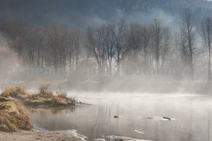 Misty Morning River in Leavenworth , JPG Image Download - Travis Knoop, Chelan County Commons