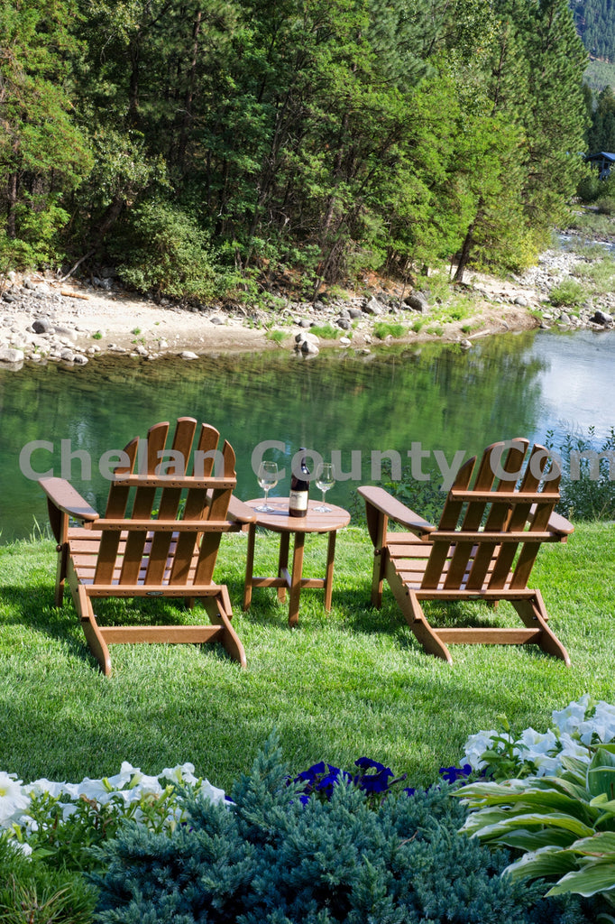 Chairs Along the River , JPG Image Download - Heidi Swoboda, Chelan County Commons