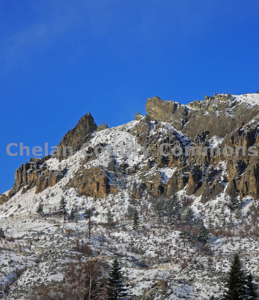 Frosted Saddle Rock , JPG Image Download - Keith Mickelson, Chelan County Commons