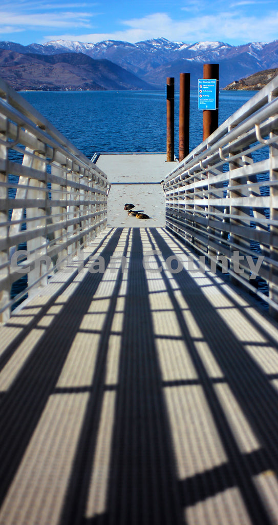 Piering into Lake Chelan , JPG Image Download - Jared Eygabroad, Chelan County Commons