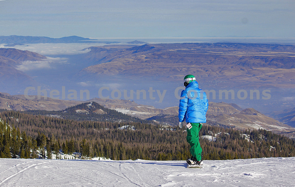 Summit Snowboarder , JPG Image Download - Jared Eygabroad, Chelan County Commons