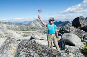 Woman Climber in The Enchantments , JPG Image Download - Heidi Swoboda, Chelan County Commons