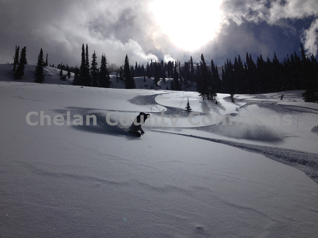 Snowboard Slashing Mission Ridge , JPG Image Download - Travis Knoop, Chelan County Commons