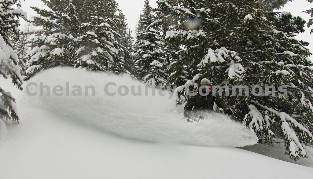 Boarder Pow Slash , JPG Image Download - Jared Eygabroad, Chelan County Commons