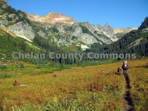 Spider Meadows Hiker - Wide , JPG Image Download - Travis Knoop, Chelan County Commons