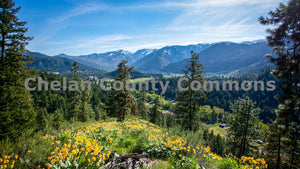 Leavenworth Spring Mountain Vista , JPG Image Download - Travis Knoop, Chelan County Commons
