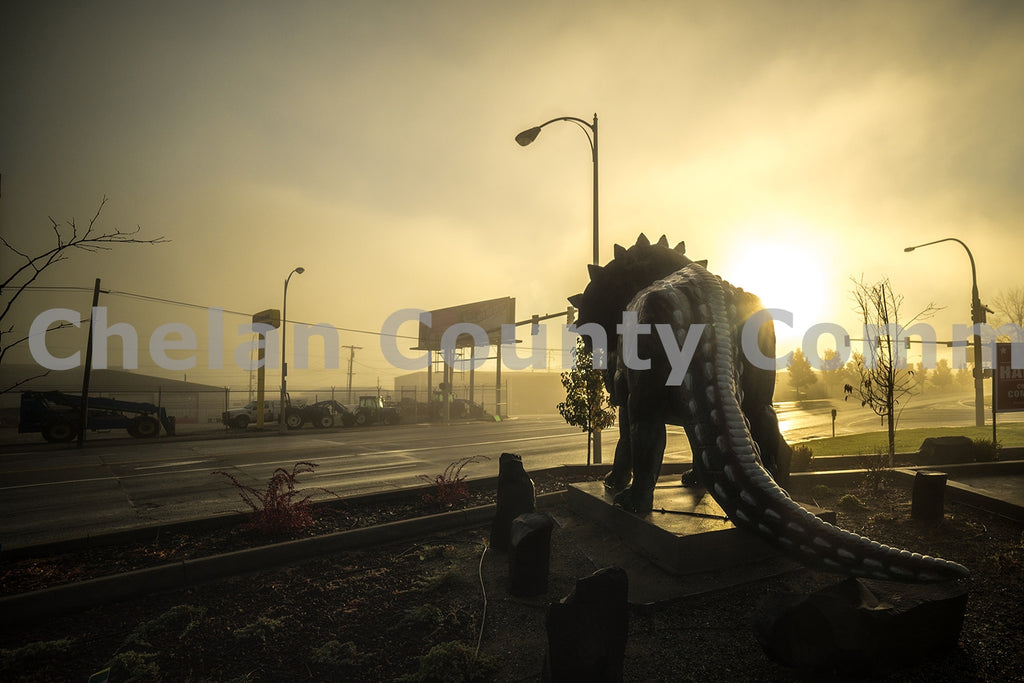Morning Triceratops Statue , JPG Image Download - Brian Mitchell, Chelan County Commons