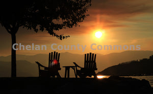 Chairs Sunset , JPG Image Download - Jared Eygabroad, Chelan County Commons