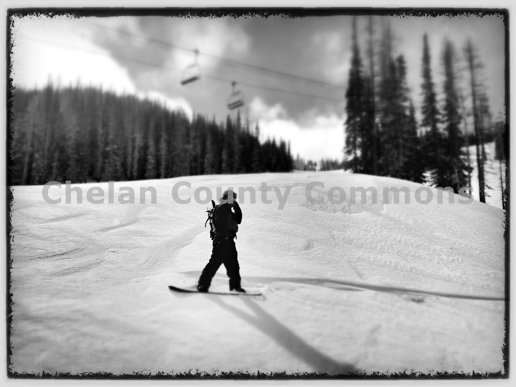 Mission Ridge Snowboarder , JPG Image Download - Travis Knoop, Chelan County Commons