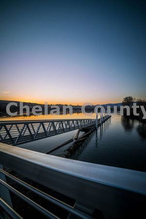 River Dock Glow , JPG Image Download - Brian Mitchell, Chelan County Commons