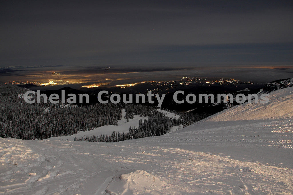 Wenatchee @ Night in Winter , JPG Image Download - Jared Eygabroad, Chelan County Commons