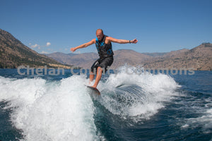 Wake Surf Carving , JPG Image Download - Travis Knoop, Chelan County Commons