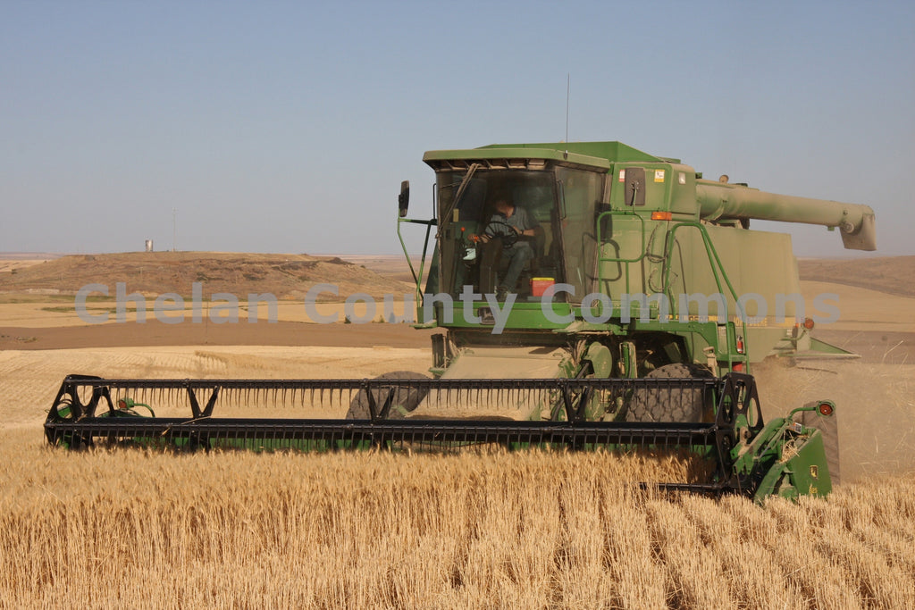 Waterville Combine , JPG Image Download - Keith Mickelson, Chelan County Commons