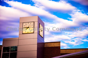 Wenatchee Valley College Clock Tower , JPG Image Download - Brian Mitchell, Chelan County Commons