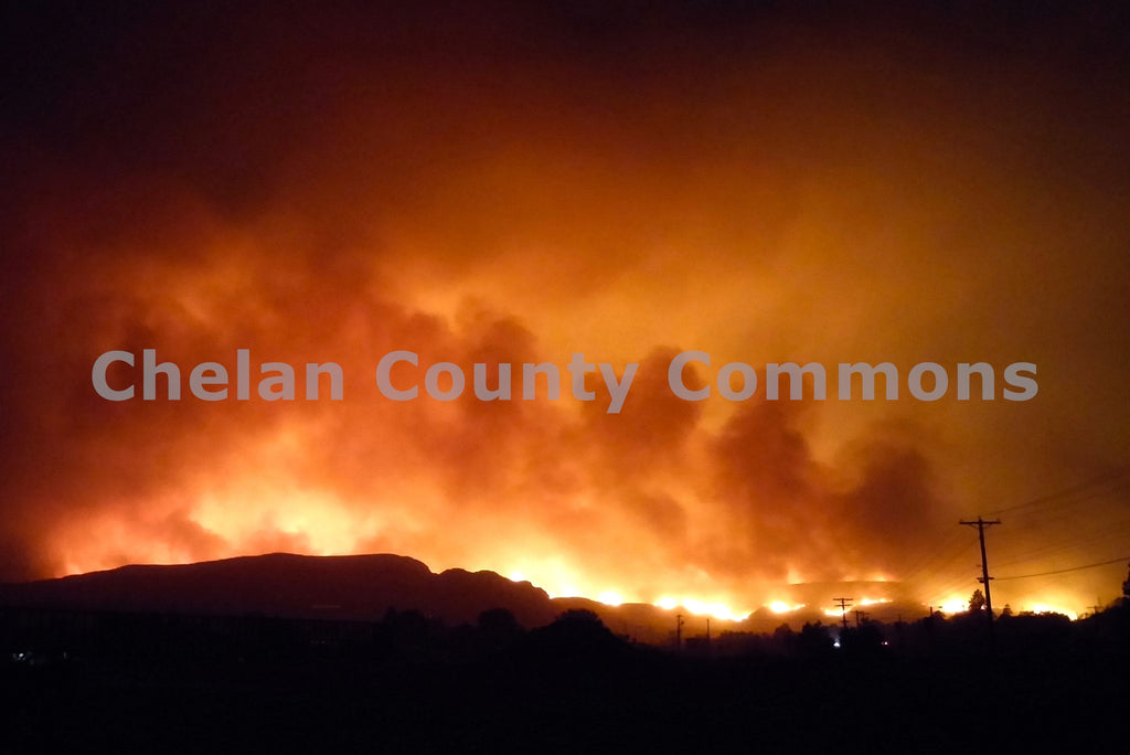 Mills Canyon Fire , JPG Image Download - Jared Eygabroad, Chelan County Commons
