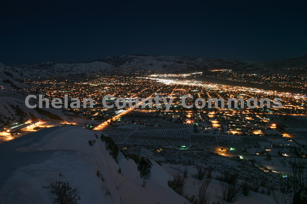 Winter Night In Wenatchee , JPG Image Download - Travis Knoop, Chelan County Commons