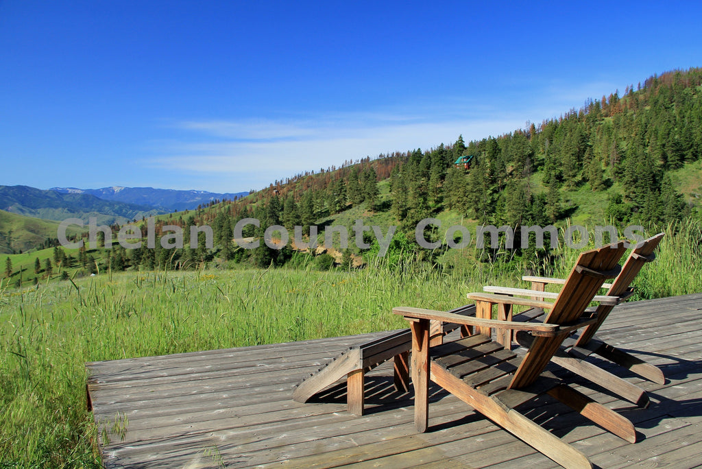 Chairs Overlooking Meadow , JPG Image Download - Travis Knoop, Chelan County Commons