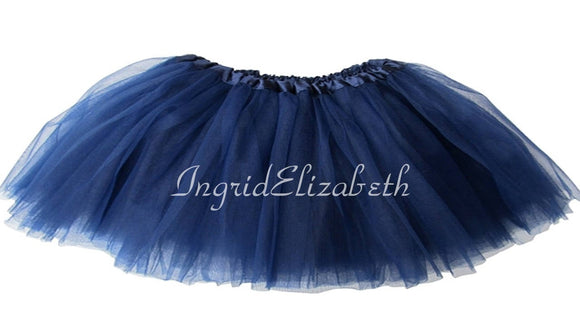 Navy TODDLER Ballerina SHORT Tutu / FAST Shipping / Child Toddler Costume, Birthday Tutus, Dress Up tutus, Dance tutu, Princess tutu