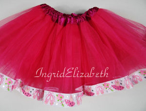 Ballet Shoes Ribbon Tutu / FAST SHIPPING / Child Costume, Birthday Tutus, Adult Costume