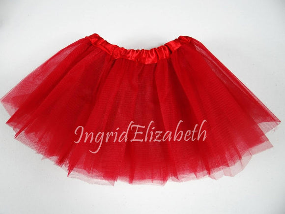 Red INFANT Ballerina Tutu / FAST Shipping / Child Toddler Costume, Birthday Tutus, Dress Up tutus, Dance tutu, Princess tutu