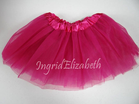 Hot Pink INFANT Ballerina Tutu / FAST Shipping / Child Toddler Costume, Birthday Tutus, Dress Up tutus, Dance tutu, Princess tutu