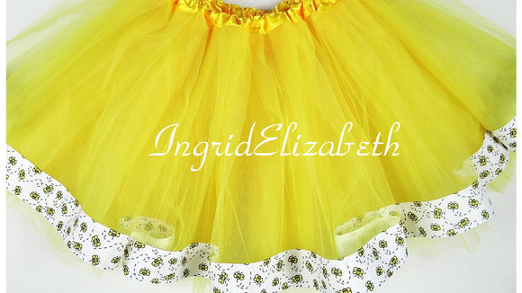 Bumble Bee Ribbon Tutu / FAST SHIPPING / Child Costume, Birthday Tutus, Adult Costume
