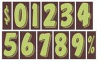 "7 1/2"" Numbers - Single - Northland's Dealer Supply Store"