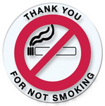 Thank You For Not Smoking - Round Sticker - Northland's Dealer Supply Store