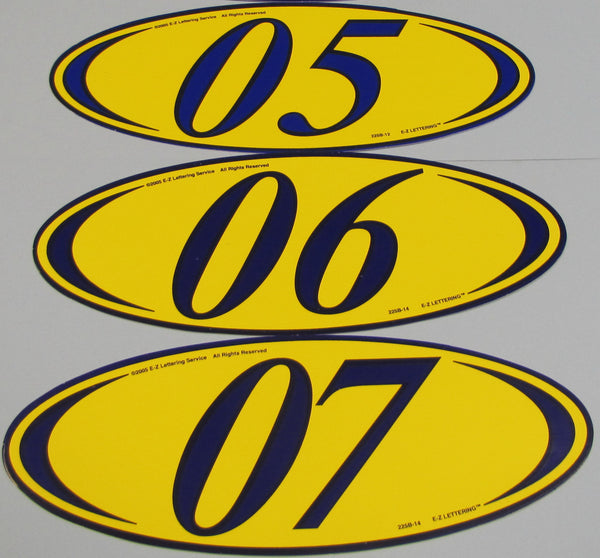 Oval Year Signs - Northland's Dealer Supply Store