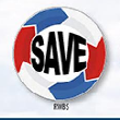 Round CoroMotion SAVE Sign