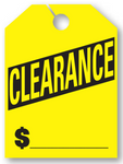 """Clearance"" Car Hang Tags- On Sale Today Only - Northland's Dealer Supply Store"