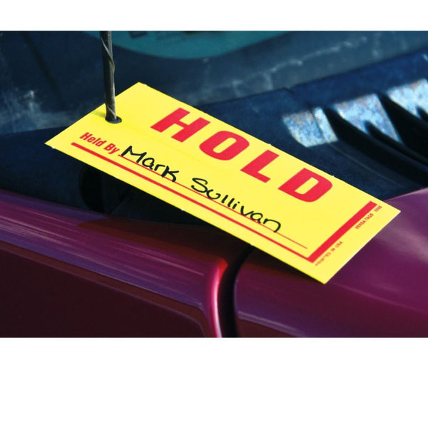 """Sold/Hold"" Car Mini Tags"