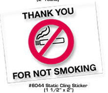 Thank You for Not Smoking Sticker - Northland's Dealer Supply Store