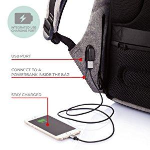Image of Waterproof Anti-Theft Backpack with USB Charging Port - Unisex