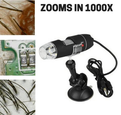 Super USB Microscope Camera - 1000X Zoom