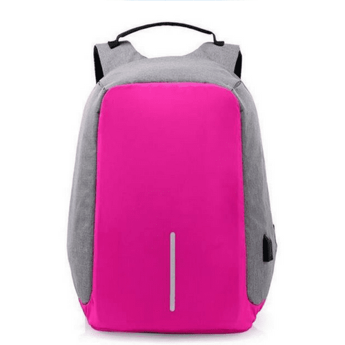 Waterproof Anti-Theft Backpack with USB Charging Port - Unisex