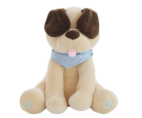 Peek-a-Boo Puppy Toy – Singing Dog