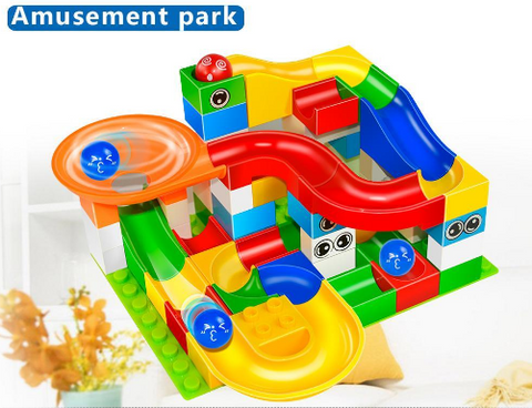 Marble Race Game – Educational Building Blocks Toy