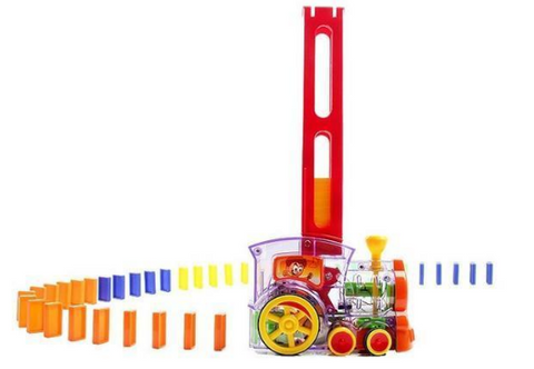 Automatic Domino Laying Toy Train
