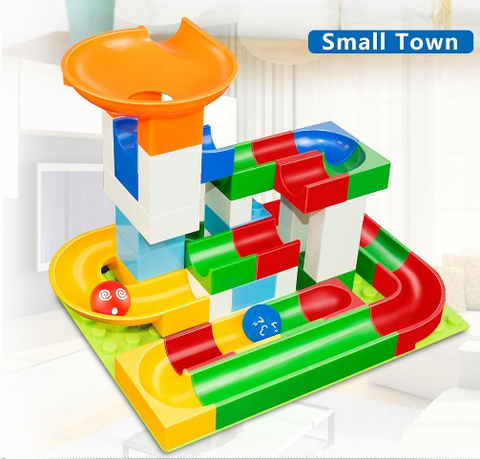 Image of Marble Race Game – Educational Building Blocks Toy
