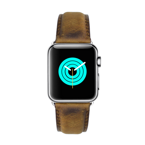 Apple Watch band Apple Watch straps Suede Leather Apple Watch Strap - Aged - Mintapple