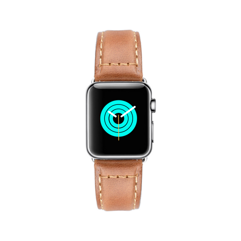 Apple Watch band Apple Watch straps Rustic Leather Apple Watch Strap - Tangerine Brown - Mintapple