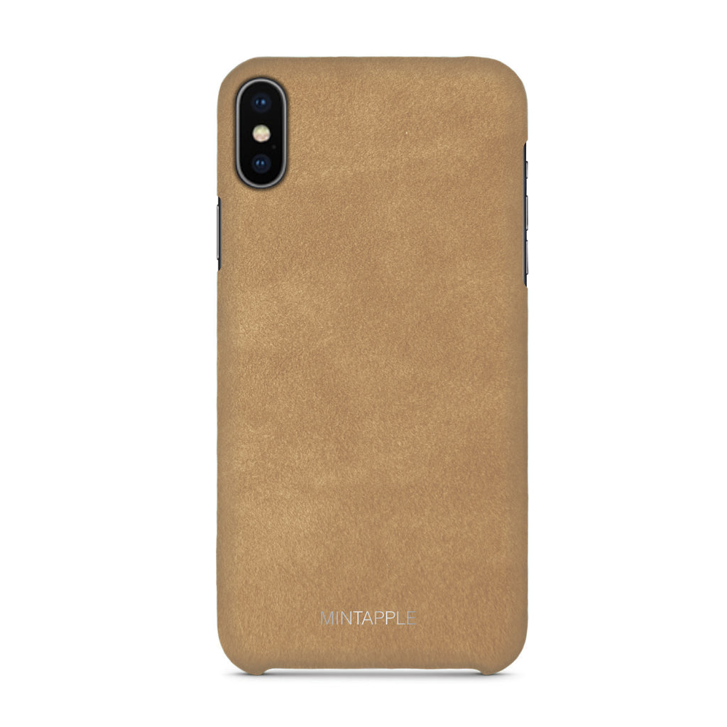 iPhone XS Max - Suede Leather Case - Mintapple